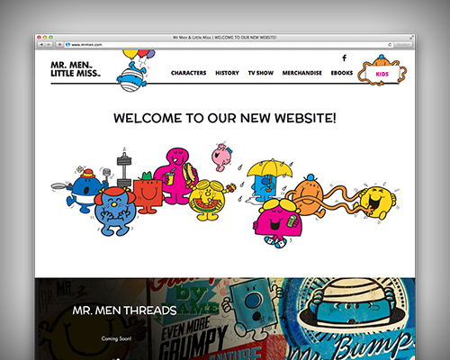 Mr Men and Little Miss website