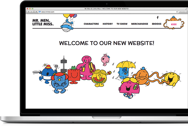 Mr Men and Little Miss website - Macbook